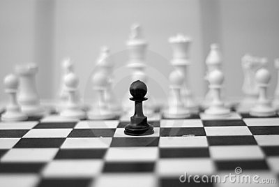 De slag van de zwarte en van het wit