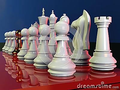De slag van het schaak