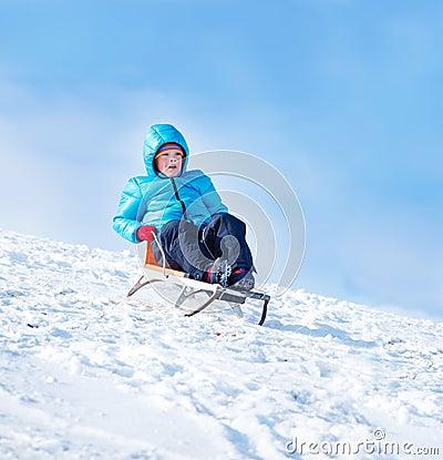 De sleighing activiteit van de winter