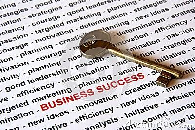 De sleutel van bedrijfssucces