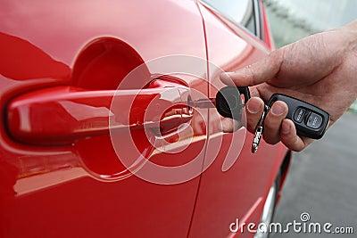 De sleutel van de auto