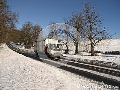De sneeuw van de winter in het Verenigd Koninkrijk