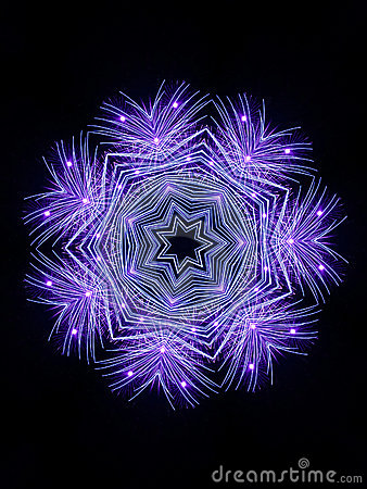 De Sneeuwvlok van het vuurwerk