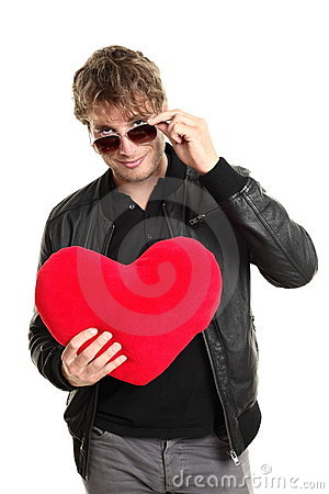 De speler van de de dagmens van valentijnskaarten