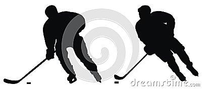 De speler van het hockey