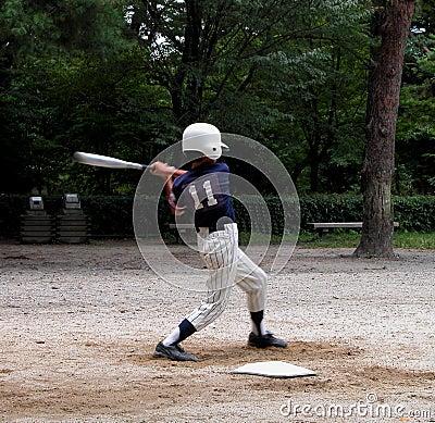 De speler van het honkbal