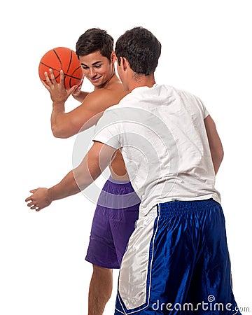 De Spelers van het basketbal