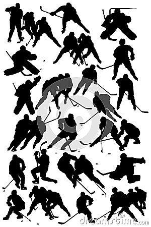 De spelers van het hockey