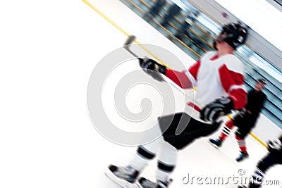 De Spelers van het hockey breken snel
