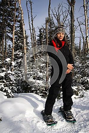 De sport van Snowshoeing/van de winter