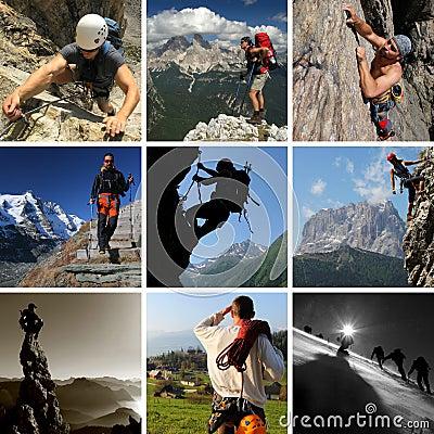 De sporten van de berg
