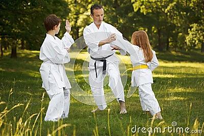 De sporten van de familie