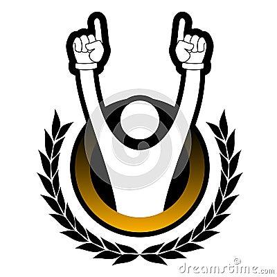 De sporten van de kampioen royalty vrije stock afbeelding afbeelding 21588076 - Moderne overwinning ...