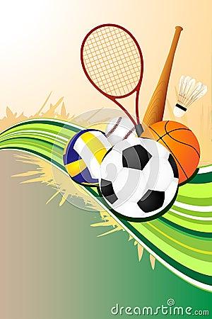 De sportenachtergrond van de bal