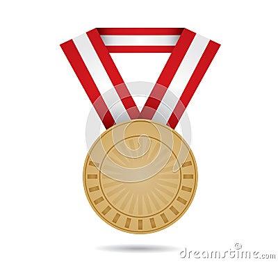 De sportmedaille van het brons