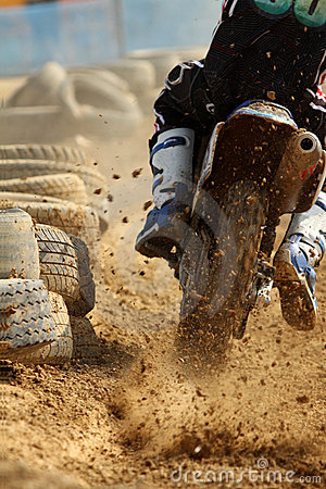 De sprint van de motocross