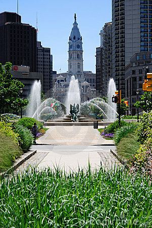 De Stad Philadelphia van het centrum