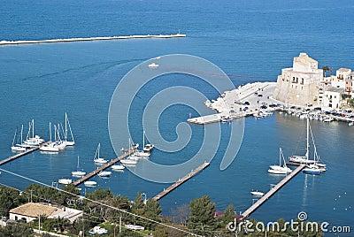 De stad van Castellammare del Golfo