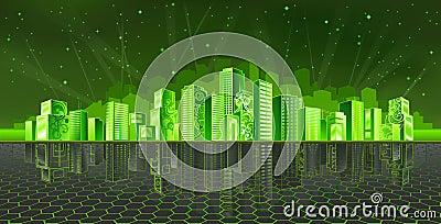 De stad van Cyber