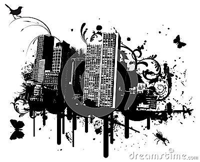 De stad van Grunge