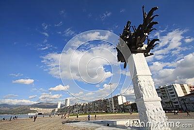 De Stad van Izmir Redactionele Stock Foto