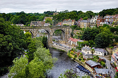 De stad van Knaresborough