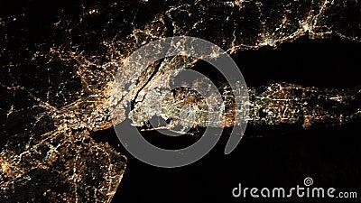De Stad van New York en Newark, New Jersey Lang Eiland Lucht Mening stock footage