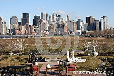 De Stad van New York en Schaakstukken