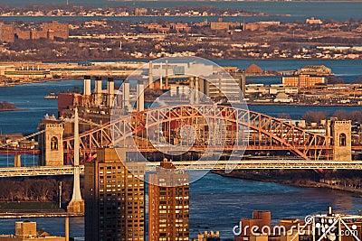 De Stad van New York van de Brug van de Poort van de hel
