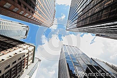 De Stad van New York van wolkenkrabbers