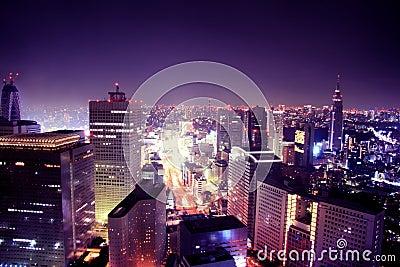 De stad van Purplelicious