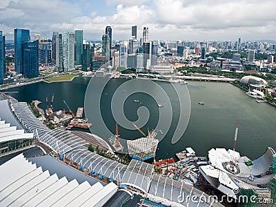 De Stad van Singapore Redactionele Afbeelding