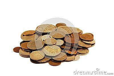 De stapel van het muntstuk