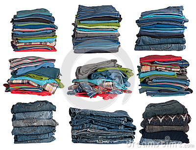 De stapels van kleren