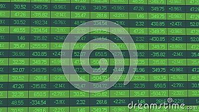 De statistiekengegevens voor analytisch overzicht van handelperiode, indexen nemen toe en dalen royalty-vrije illustratie
