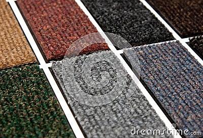 De steekproeven van het tapijt