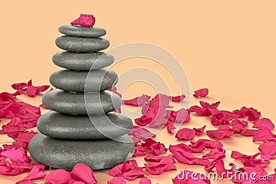 De stenen van de kiezelsteen