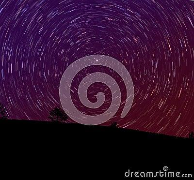 De ster sleept landschap