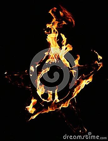 De ster van de brand