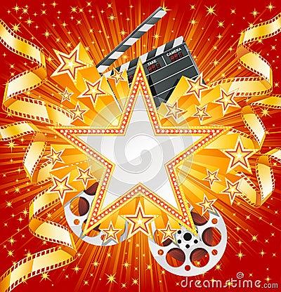 De ster van de film