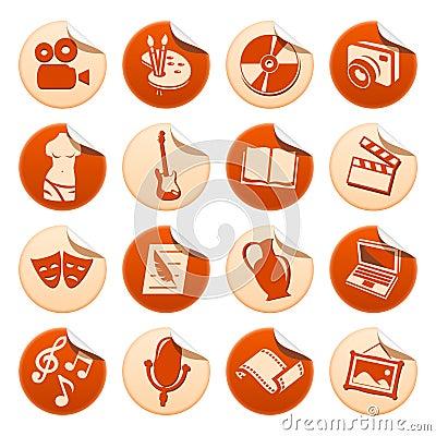 De stickers van de kunst & van de hobby