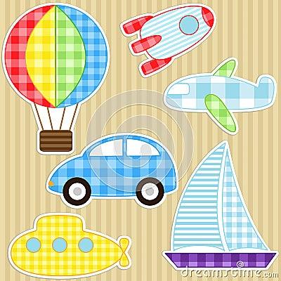 De stickers van het vervoer