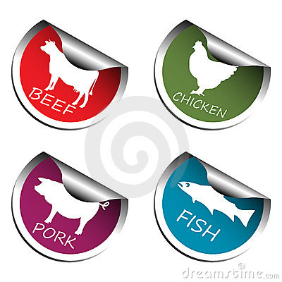 De stickers van het vlees