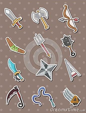 De stickers van het wapen