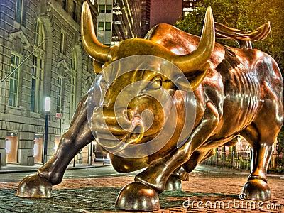 De Stier van Wall Street Redactionele Afbeelding