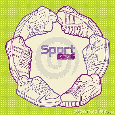 De stijl van de sport