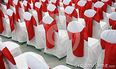 De stoelen van de gebeurtenis