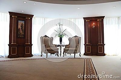 De stoelen van de luxe
