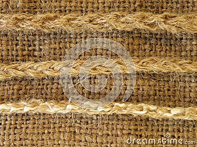 De stof van het linnen met koorden