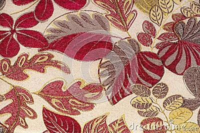 De stof van het tapijtwerk